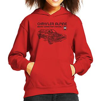 Haynes Workshop Manual 0337 Chrysler Alpine Black Kid's Hooded Sweatshirt