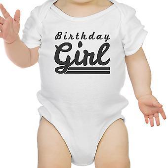 Regalo di compleanno ragazza cotone Body bianco carino 1 ° compleanno Baby Girl