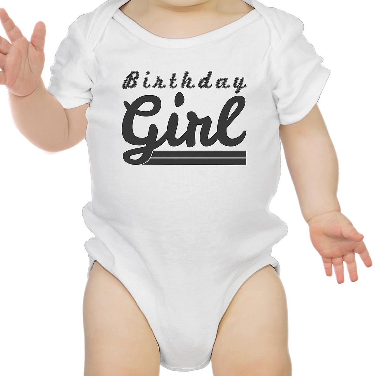 Birthday Girl White Bodysuit Cotton Cute 1st Baby Gift