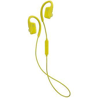 JVC AE Wireless Bluetooth Sports Clip Headphones - Yellow (Model No. HAEC30BTY)