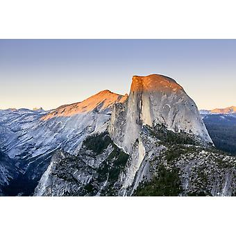 Half Dome at sunset from Glacier Point Yosemite National Park California United States of America Poster Print by Yves Marcoux  Design Pics