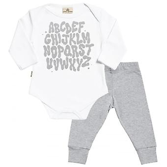 Spoilt Rotten Alphabet Babygrow & Jersey Trousers Outfit Set