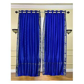 Incantevole anello blu Top Sari pura tenda / drappo / pannello - pezzo