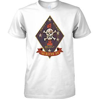 USMC 1 Recon Insignia-Swift Silent mortal-fuzileiros navais dos EUA-camiseta Kids