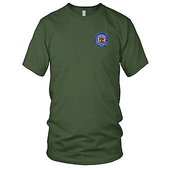 US Navy USS Gaum LPH-9 Embroidered Patch - Mens T Shirt