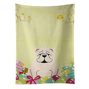 Carolines Treasures  BB6123KTWL Easter Eggs English Bulldog White Kitchen Towel