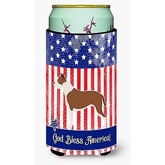 Pit Bull Terrier American Tall Boy Beverage Insulator Hugger