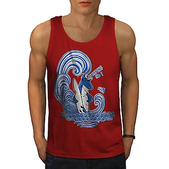Requin Surf Fun animaux hommes RedTank Top | Wellcoda