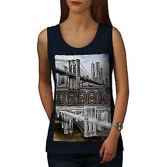 NY la métropole urbaine femmes NavyTank Top | Wellcoda