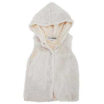 Baby Girls Hooded Faux Fur Winter Gilet
