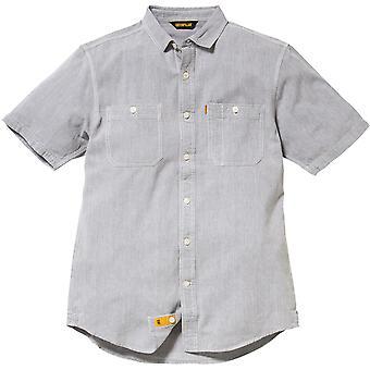 Caterpillar Herren Grundrechte kurzes Sleeved Hemd grau