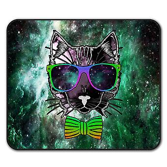 Space Glasses Animal  Non-Slip Mouse Mat Pad 24cm x 20cm | Wellcoda