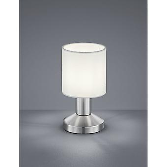 Trio Lighting Garda Modern Nickel Matt Metal Table Lamp