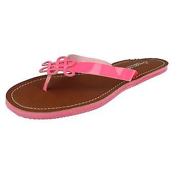 Ladies Savannah Neon Summer Toe Post Sandals L6729