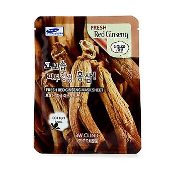 3w Clinic Mask Sheet - Fresh Red Ginseng - 10pcs