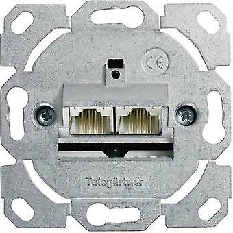Telegärtner Netzwerkausgang Flush mount Insert CAT 6 2 Ports