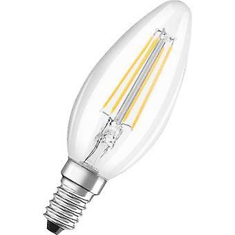 OSRAM 4052899941564 LED (monochroom) EEG A++ (A++ - E) E14 Kaars 4 B = 37 W Warm wit (Ø x L) 35 mm x 99 mm Filament 1 st(en)