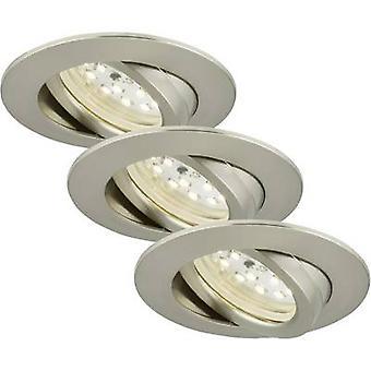Briloner 7232-032 LED luce da incasso 3 pezzi set 16,5 W caldo bianco nichel (opaco)