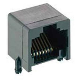 Modulaire construire-dans le couplage des connecteurs RJ45, horizontal Mont nombre de broches: 8P8C 2531 01 noir Lumberg 2531 01 1 PC (s)