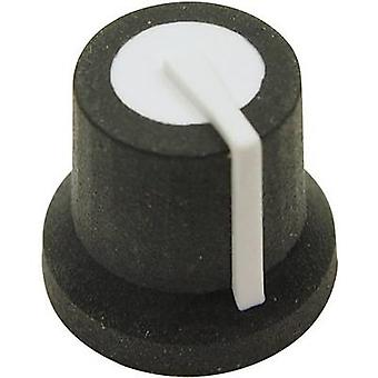 Cliff CL170822BR Control knob Black, White (Ø x H) 16.8 mm x 14.5 mm 1 pc(s)