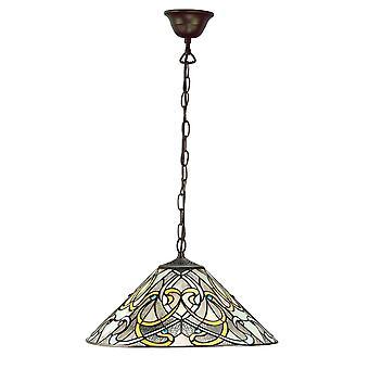 Interiör 1900 Dauphine enda ljus hängsmycke med konst