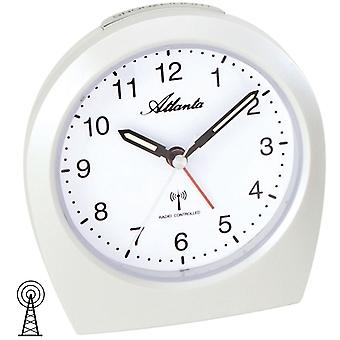 Atlanta cream 1824/0 alarm clock radio alarm clock snooze light white quietly without ticking
