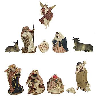 11-piece Nativity figurines. Set synthetic resin Nativity figurines ORIENTAL 11 cm