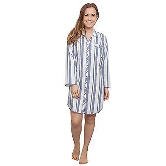 Cyberjammies 3865 vrouwen Fifi grijs gestreepte slaap Shirt Nighty Nachthemd
