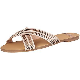 Qupid Womens britt-09A Open Toe Casual Slide Sandals