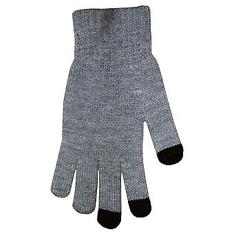 Boss Tech BTP-GLV-GRAY Knit Touchscreen Gloves, Texting Gloves, Tech Gloves (Gray)
