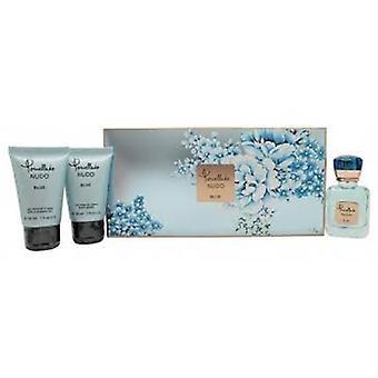 POMELLATO Nudo Blue Gift Set 25ml EDP + douchegel 30ml + bodylotion 30ml