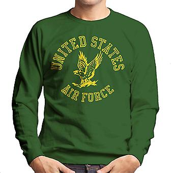 US Airforce Eagle Yellow Text Men's Sweatshirt