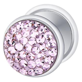 Falska fuskare försilvrad örat Plug, örhängen, smycken, med Multi Crystal Tanzanite lila