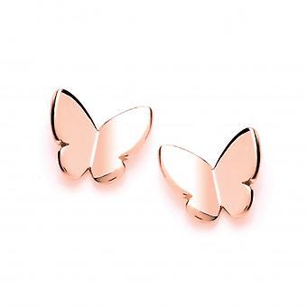 Cavendish oro rosa semplice francese farfalla orecchini