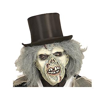 Zombie masker met pruik