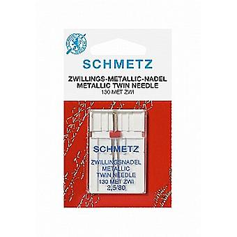 Schmetz Sewing Machine Needle - Metallic Twin 2.5/80