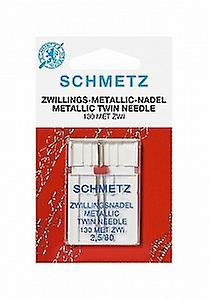 Schmetz Sewing Machine Needle - Metallic Twin 2.5/80