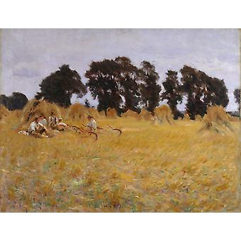 Reapers Resting in a Wheatfield, John Singer Sargent, 50x40cm