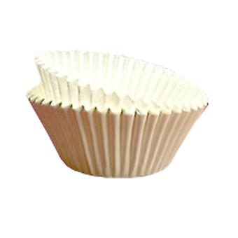 White Muffin Baking Cases