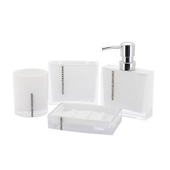 Immanuel Cristal 4-piece Bathroom Accessory Set