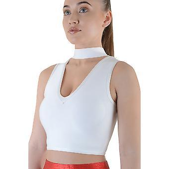 Lovemystyle weiße Bandage Material bauchfreies Top mit Reißverschluss auf der Rückseite