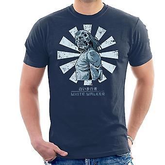 Weiße Walker Retro japanische Spiel der Throne Herren T-Shirt