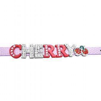 Watch Strap Bracelet Cherry Letter w/ Cherry Fruit Bracelet