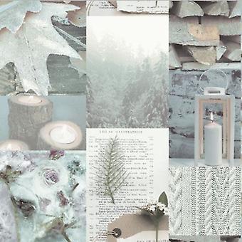 Arthouse natuurlijke Shabby chique Log kaars blad bruin crème Taupe Beige achtergrond