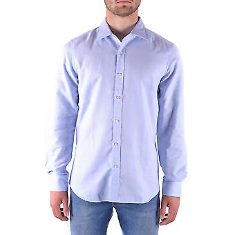 Fay Ezbc035008 Men's Light Blue Cotton Shirt