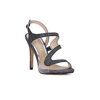Cafe noir asmmetrico glitter sandals