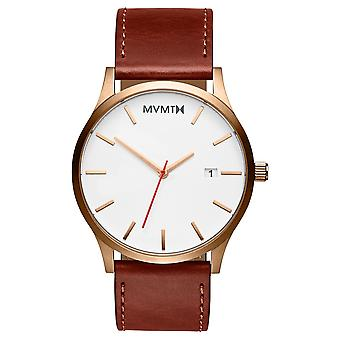 MVMT CLASSIC Rose Gold Natural Men's Watch wristwatch leather MM01-WBR