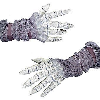 Mãos gaze fantasmagórica ossos
