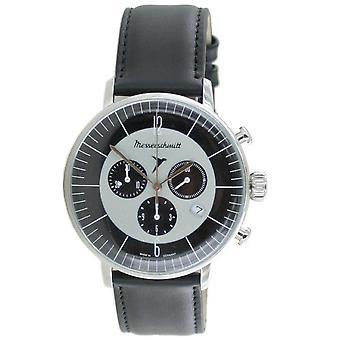 Aristo Men's Messerschmitt Watch stainless steel chronograph ME-4H176 leather