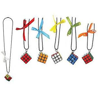 Puzzle Cube Necklace with Bow